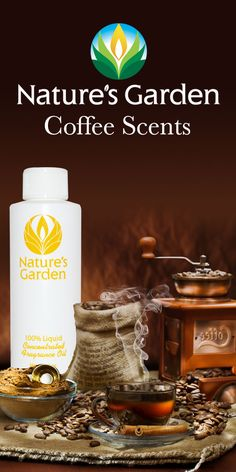 Fabulous Coffee Fragrances from the world renowned Natures Garden Fragrance Oils. These scents are typically used to make candles, soap, cosmetics, and bath and body products. #coffeescents