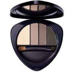 Dr Hauschka Eye & Brow Palette Eye-opening: The velvety, matte colours offer depth to the eyes and create beautifully expressive e Dr Hauschka, Brow Palette, Eyeshadow Palette, Natural Eyes, Natural Skin Care, Ultramarines, Brow Powder, Fragrance Parfum, Clean Beauty