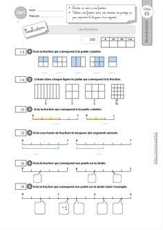 CM1: EVALUATION Décomposer et encadrer les fractions   Fraction cm2, Fractions, Evaluation cm1