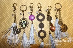 CHOOSE Reflective tassel life saving handmade by TasselArte Every Step You Take, I Sent You, Bird Cage, School Bags, Tassels, Fashion Accessories, Christmas Gifts, Charmed, Make It Yourself