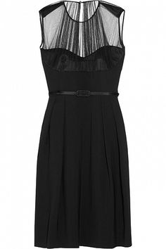 Farah Silk-crepe And Tulle Dress by JONATHAN SAUNDERS