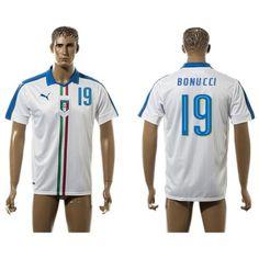 Italien UEFA Euro 2016 Bonucci 19 Udebanetrøje Kortærmet