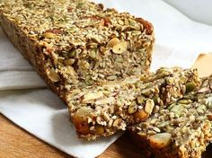 Healthy Seed and Nut Bread (gluten free + vegan) - Baked Ambrosia Vegan Gluten Free, Gluten Free Recipes, Bread Recipes, Vegan Recipes, Yogurt, Raw Pumpkin Seeds, Seed Bread, Healthy Seeds, Healthy Food