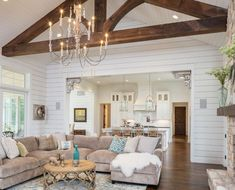 Outstanding modern farmhouse living room are available on our web pages. look at this and you wont be sorry you did. House Interior, Beige Living Room Decor, Home, Beige Living Rooms, Farmhouse Living, Family Room Design, Farm House Living Room, Country House Decor, Home Decor