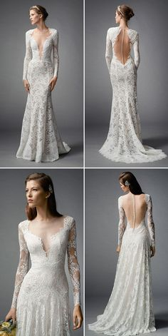 30 of the Most Beautiful Long Sleeve Wedding Dresses of 2015! Watters