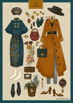 fouatons / Thank you for your solo exhibition! Vintage Fashion Sketches, Fashion Design Drawings, Character Outfits, Character Art, Kleidung Design, Vintage Outfits, Estilo Lolita, Look Retro, Drawing Clothes