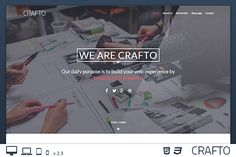 CraftoWP - One-Page WordPress Theme by Picseel on Creative Market