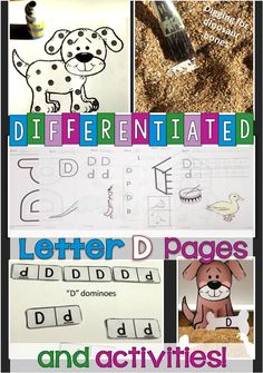 This Letter D Unit contains a wide variety of alphabet activities that address various learning styles. Songs, games, puppets, visuals, activities, art projects, etc. are all used to teach the letter allowing you to reach the learning needs and interests of every student. These alphabet activities were created with young children in mind and have plenty of hands-on experiences that get the children involved in the learning process.