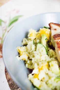 Low Carb falscher Coucous Salat mit Avocado & Mango | Low Carb Köstlichkeiten