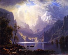 Albert Bierstadt In the Sierras - The Largest Art reproductions Center In Our website. Low Wholesale Prices Great Pricing Quality Hand paintings for saleAlbert Bierstadt Fantasy Landscape, Landscape Art, Landscape Paintings, Landscape Photography, Art Photography, Albert Bierstadt Paintings, Hudson River School, Realistic Paintings, Traditional Paintings