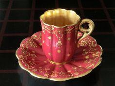 Tea Cup & Saucer Coalport 1910