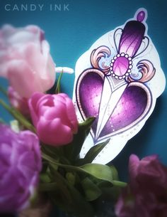 #neo #traditional #heart #knife #design