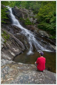 White Oak Canyon trail at shenandoah national park in VA - one of the best waterfall hikes