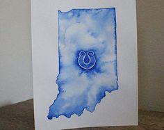 Indianapolis Colts Original Watercolor Painting
