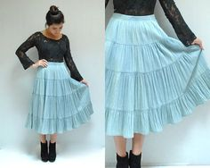 Chambray Skirt  //  Prairie Skirt  //  THE by VintageUrbanRenewal, $38.00