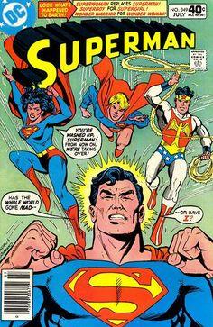 Superman  meets  Superwoman,  Superboy,  and  Wonder  Warrior  in  Superman  #  349  !