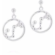 Yasmin Everley Jewellery - Scorpio Astrology Drop Studs (385 ILS) ❤ liked on Polyvore featuring jewelry, earrings, studded jewelry, circle earrings, circle stud earrings, earring jewelry and stud earrings