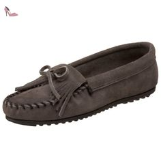 Minnetonka  Kilty, Mocassins (loafers) homme - - Grey (Medium Grey), 36 - Chaussures minnetonka (*Partner-Link)