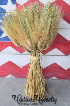 Easy Dried wheat centerpieces for your Event or Home