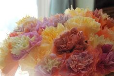 Pretty coffee filter flowers