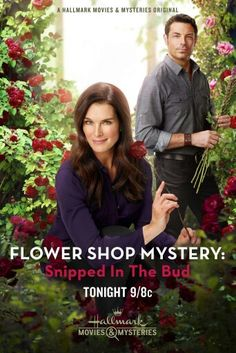 """Its a Wonderful Movie - Your Guide to Family Movies on TV: Brooke Shields and Brennan Elliott star in an All New Hallmark Mystery. """"Flower Shop Mystery: Snipped in the Bud"""" Películas Hallmark, Films Hallmark, Hallmark Channel, Family Christmas Movies, Hallmark Christmas Movies, Family Movies, Xmas Movies, Brooke Shields, Movies Showing"""