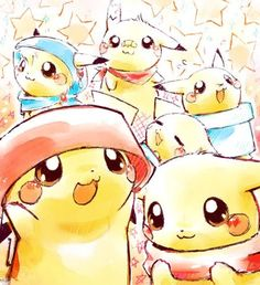 Pikachu cute on LOVE >O<