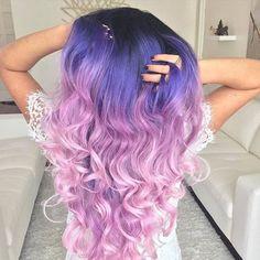 Imagen de hair, purple, and girl