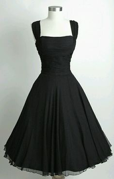 Classic little black dress. Ageless and never out of style