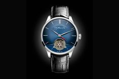 The H. Moser & Cie Venturer Tourbillon Dual Time With Midnight Blue Fumé Dial