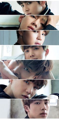 Jungkook, V, Jimin, J-hope, RapMonster, Suga, Jin