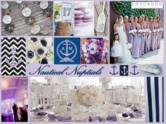 Nautical Nuptials! #Navy #White #Lavender Perfect for any wedding near the ocean!