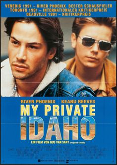 German poster for My Private Idaho (1991)