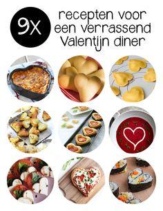 Nog op zoek naar toffe Valentijn diner recepten om jouw geliefde mee te verrassen op Valentijnsdag? We gingen voor je op zoek. En vonden vooral veel hartjes…