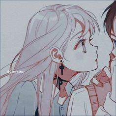 Manga Cute, Cute Anime Chibi, Cute Anime Pics, Anime Girl Cute, Anime Art Girl, Kawaii Anime, Friend Anime, Anime Best Friends, Cute Anime Profile Pictures