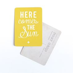 "Image of Carte Postale ""HERE COMES THE SUN"" CITRON"