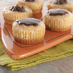 Peanut Butter & Chocolate Mini Cheesecakes