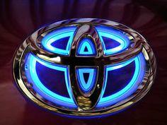 LED Car Decoration Logo Blue LED Light 14cm Car Front Emblem for Toyota Corolla   eBay