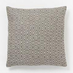 Hand-Loomed Diamond Pillow Cover - Slate #westelm