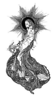 Harry Clarke ~ The Year's at the Spring ~ Untitled Front Matter Illustration ~ 1920 ~ via