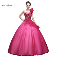 66b05528841ca Ruthshen One Shoulder Ball Gown Quinceanera Dresses With Sequin Beaded Party  Dresses Ruched Organza Vestidos De 15 Anos Sweet 16.