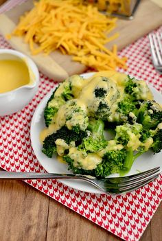 Easy Homemade Cheese Sauce for Vegetables --  who knew it was sooo easy to make!!  Steamed broccoli just ain't the same without it!  Nachos and hushpuppies either!