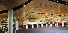 supacoustic custom curvered timber veneer ceiling panels