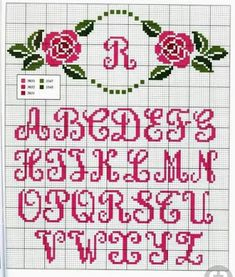 Thrilling Designing Your Own Cross Stitch Embroidery Patterns Ideas. Exhilarating Designing Your Own Cross Stitch Embroidery Patterns Ideas. Cross Stitch Alphabet Patterns, Cross Stitch Letters, Letter Patterns, Cross Stitch Flowers, Cross Stitch Charts, Stitch Patterns, Cross Stitching, Cross Stitch Embroidery, Embroidery Patterns