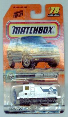 Matchbox 1999-78 of 100 Series 16 Snow Explorer Snow Groomer SILVER 1:64 Scale by Mattel. $6.98. SERIES 16. 1:64 Scale Collectible Die-Cast Car