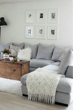 Apartment Living Room On A Budget Small Chairs . 47 Inspirational Apartment Living Room On A Budget Small Chairs . 24 Simple Apartment Decoration You Can Steal Cozy Living Rooms, My Living Room, Home And Living, Modern Living, Living Area, Coastal Living, Living Room Decor Grey Couch, Apartment Living Rooms, Corner Sofa Living Room Small Spaces