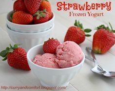 Curry and Comfort: Strawberry Frozen Yogurt