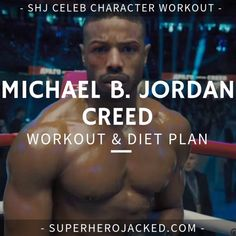 Michael B. Jordan Workout and Diet [Updated]: Train like Killmonger! Lean Body Workouts, Gym Workouts For Men, Full Body Hiit Workout, Workout Meal Plan, Workout Plan For Men, Workout Guide, Workout Ideas, Lean Muscle Workout Plan, Training Workouts