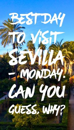 Things to do in Seville - free entrance to museums on Monday http://tripsget.com/blog/2016/04/things-to-do-seville-free-entrance-alcazar-monday/