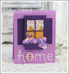 A 'New Home' card for the Moxie Fab World Tuesday Trigger. Memory Box dies, Hero Arts bird.