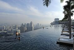 The Infinity Pool in the Sky.  Marina Bay Sands Hotel in Singapore
